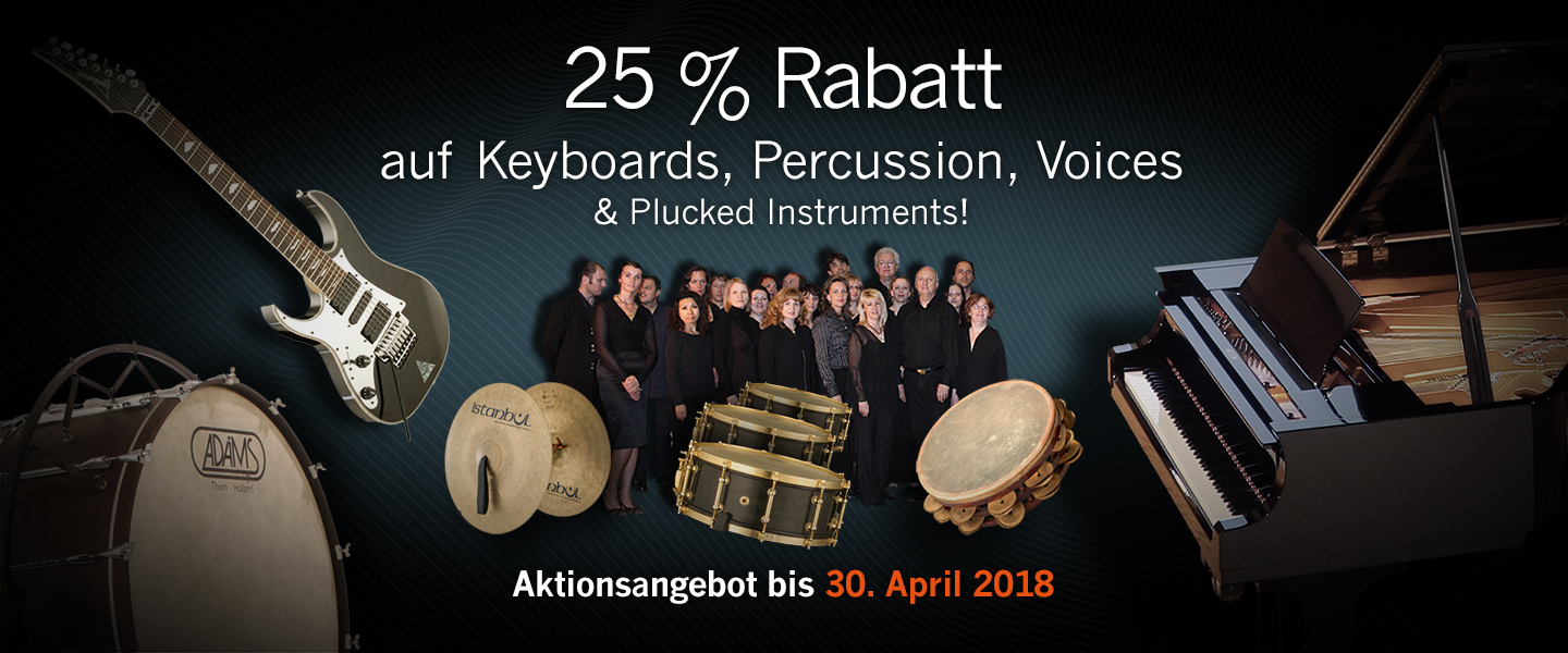 Keyboards- und Percussion-Aktion